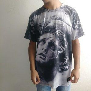Greek Statute All Over Print Tee Shirt
